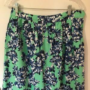J. Crew Floral A-Line Skirt